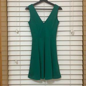 H&M emerald skater dress size XS
